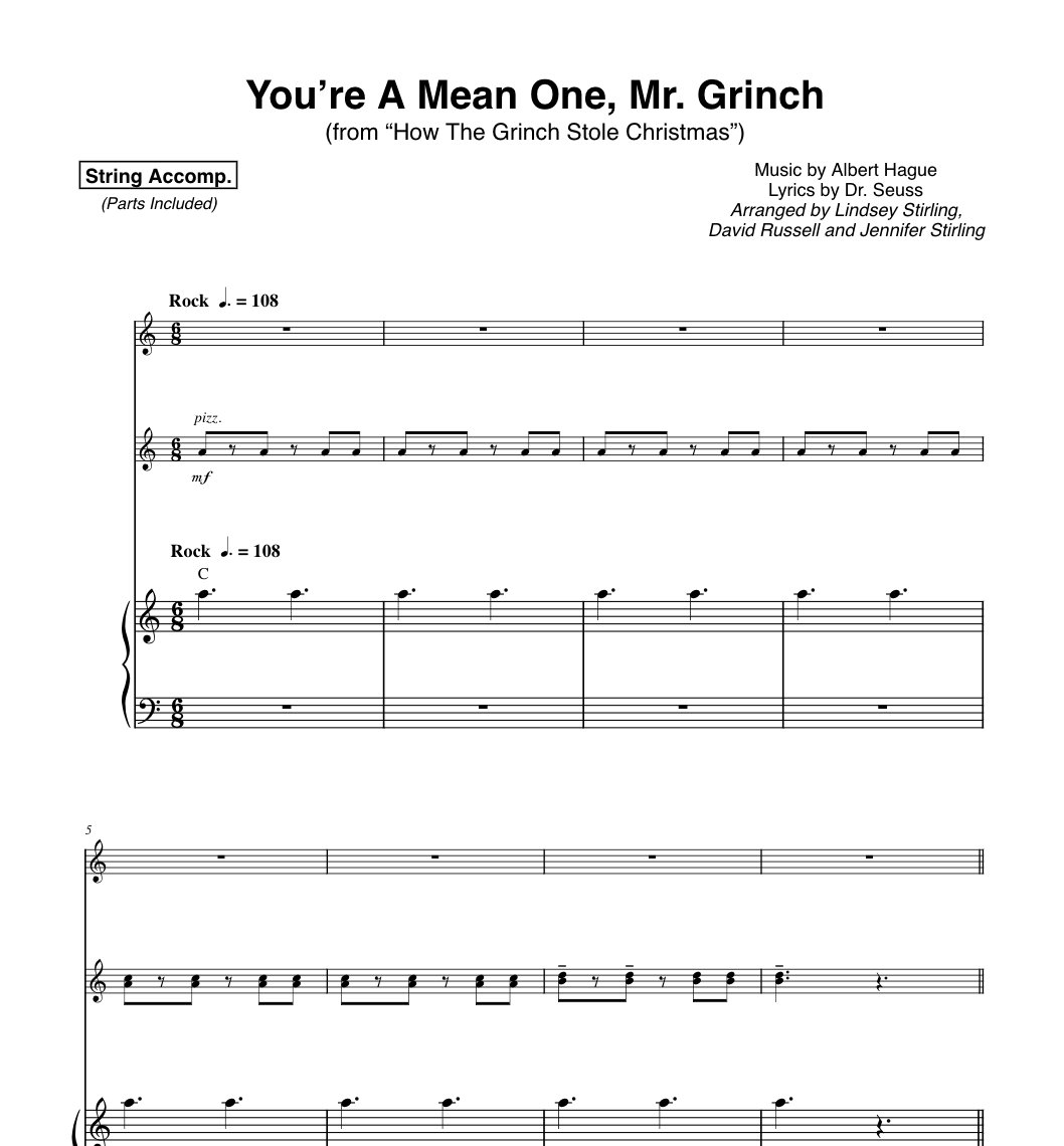 How The Grinch Stole Christmas Lyrics.Lindsey Stirling On Twitter You Re A Mean One Mr Grinch