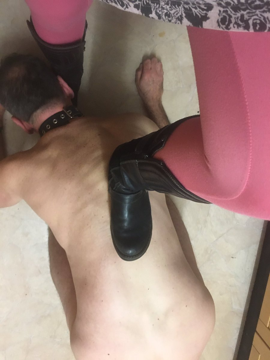 Riding boots trampling cock