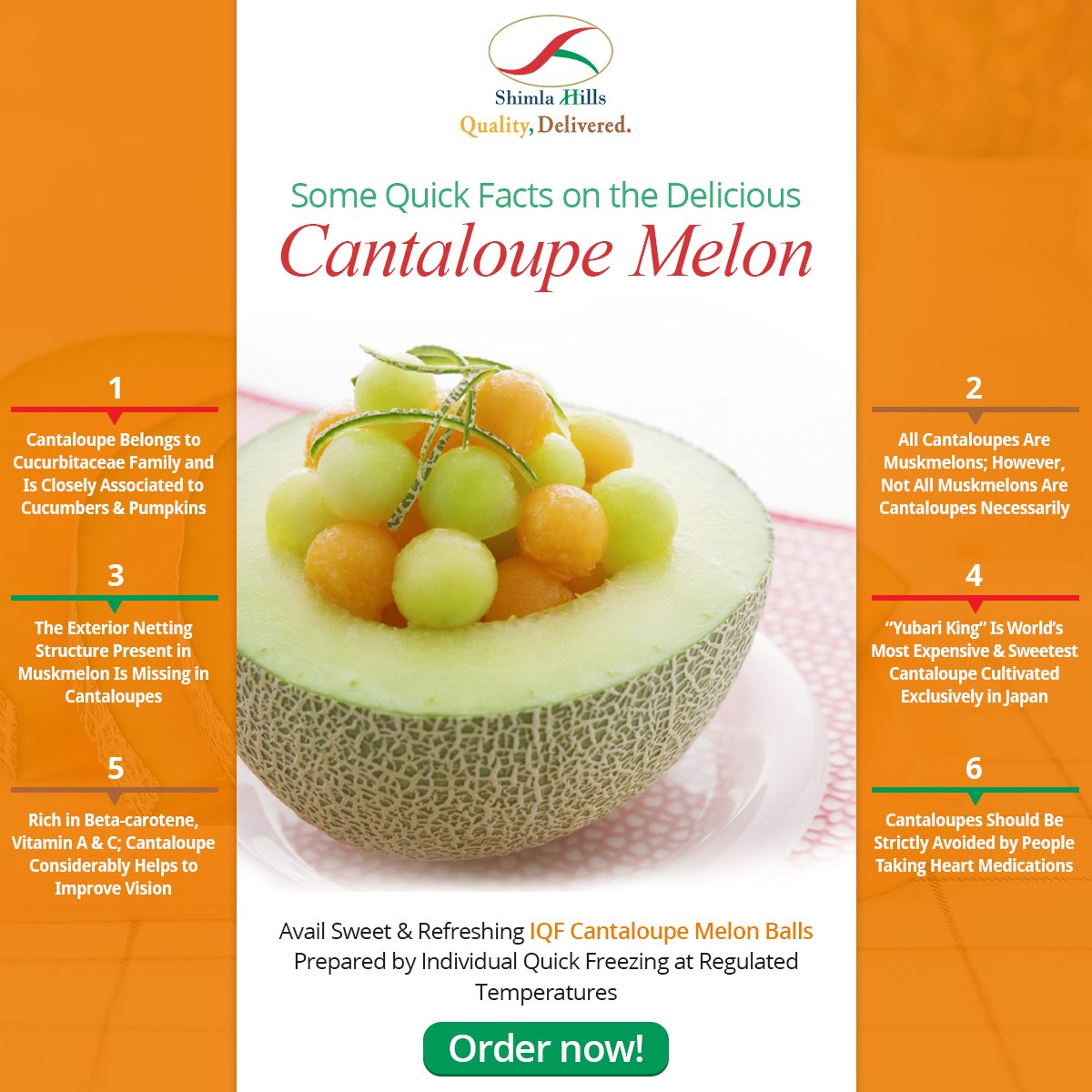 Shimla Hills On Twitter Premium Quality Iqf Cantaloupe Melon Balls From Shimla Hills Prepared From Fresh Juicy Cantaloupes Always Https T Co F1g9h7gias Iqf Fruits Nutrition Food Indus Food Networking Inspirefoodbusiness #elise bauman #natasha negovanlis #twitter #natasha x elise #cantaloupe #they are so married #elise3aum #natlise #negovanilis #negovanman #hollstein #creampuffs. iqf cantaloupe melon balls