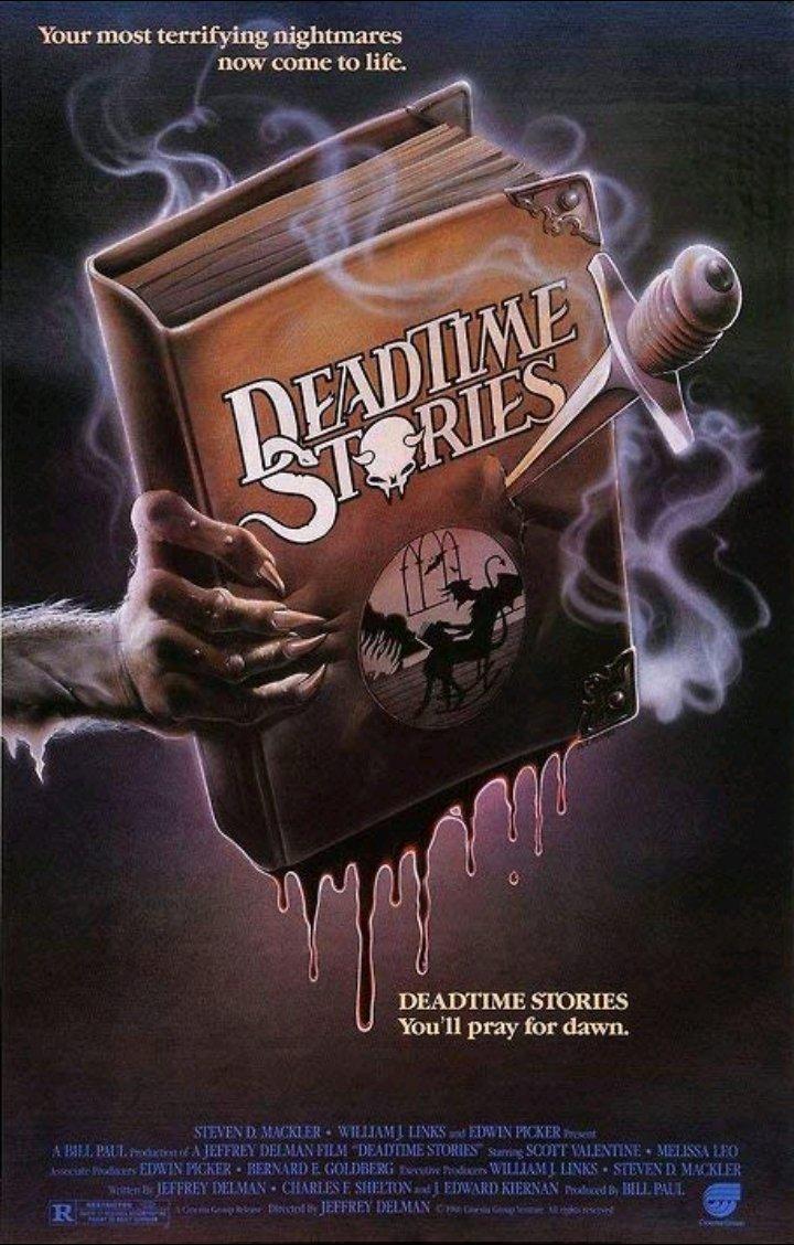 Released November 28th, 1986. #DeadtimeStories #ScottValentine #NicolePicard #CathryndePrume #slasher #thriller #horror #comedy #horrormoviespic.twitter.com/WO17s6AcgE
