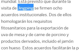 la visita de Jingping