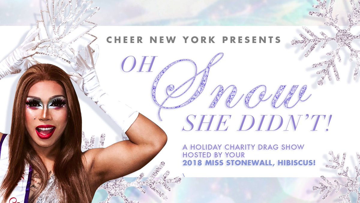 Proceeds benefit our Cheer For Life Fund Recipient, NYC @antiviolence. Join  #CheerNewYork Sun Dec 2nd @TheStonewallNYC 8pm: ...
