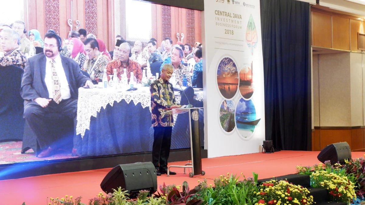 Penyelenggaraan Central Java Investment Business Forum (CJIBF) th 2018 dgn Narasumber Gubernur BI, Kepala BKPM RI, Gubernur Jateng dan CEO PINA Jkt di Hotel Grand Sahid Jakarta (26/11)@humasjateng