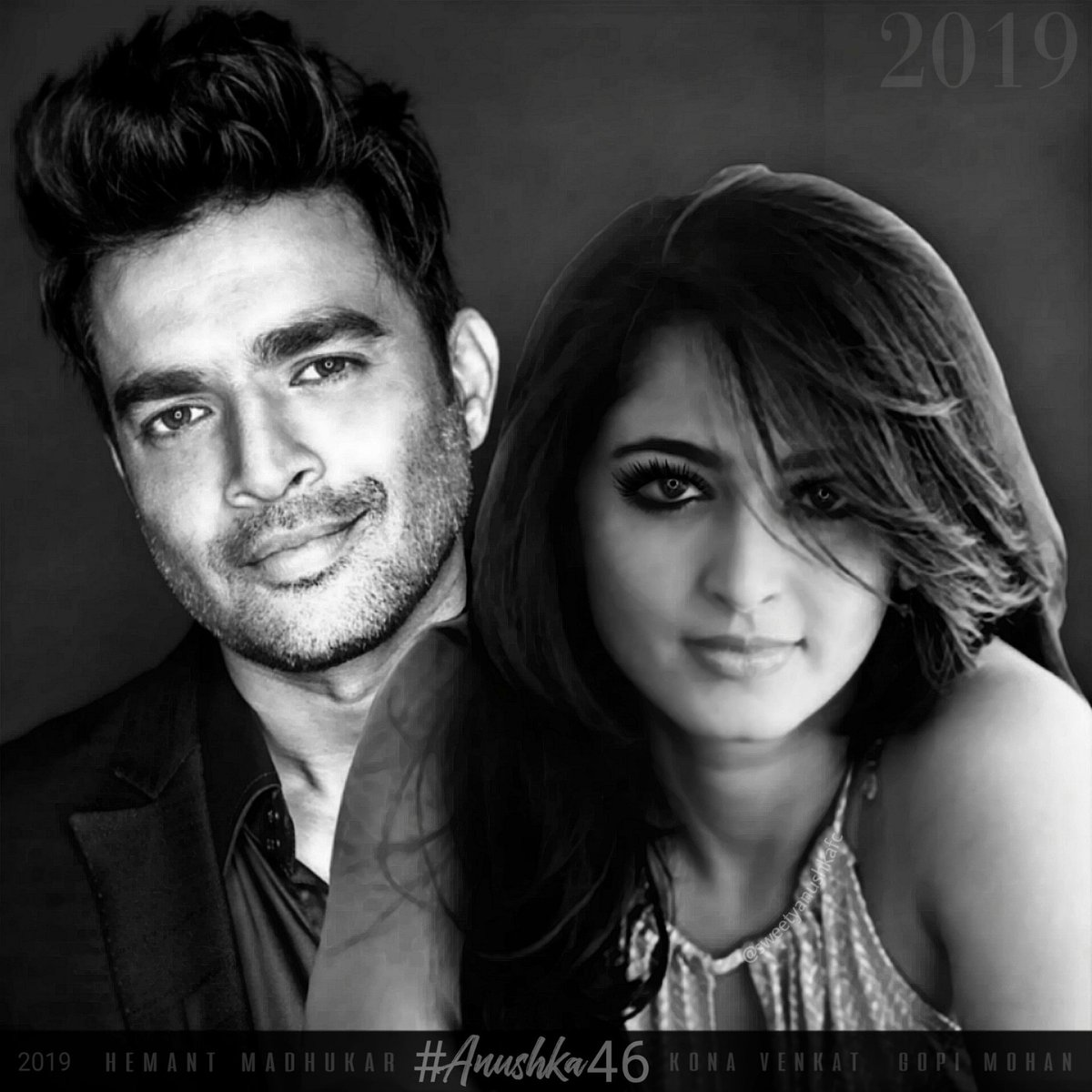 SO EXCITED FOR #Anushka46!!! Shooting starts in 2019!!😍 #AnushkaShetty @ActorMadhavan @actorsubbaraju @peoplemediafcy @KonaFilmCorp @hemantmadhukar @konavenkat99 @Gopimohan