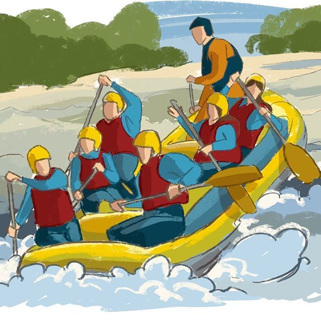 Image result for river rafting cartoon hd