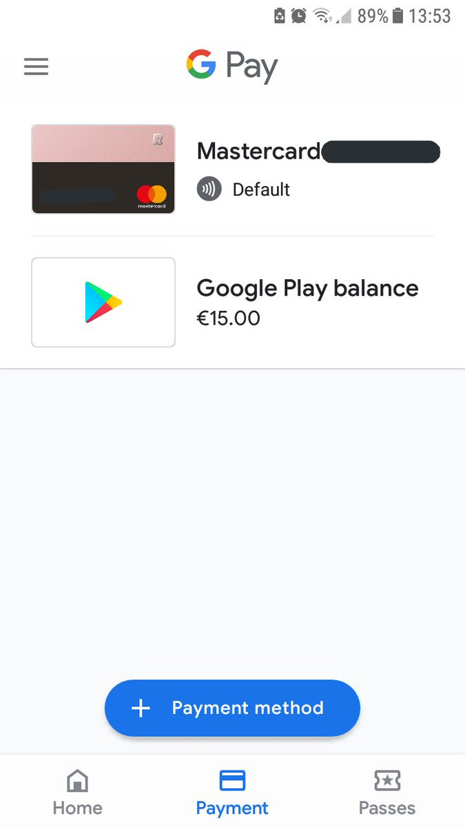 google play default account