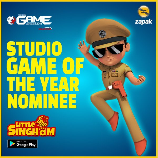 We are glad to announce that #LittleSingham has been nominated for #IGDC Award under the category of Studio Game of the Year.Thank you for your continuous support! ❤️ @INDIA_GDC https://t.co/s8Hz27UEK3