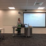 Image for the Tweet beginning: Sarah Butt @ESS_Survey @CityUniLondon outlining