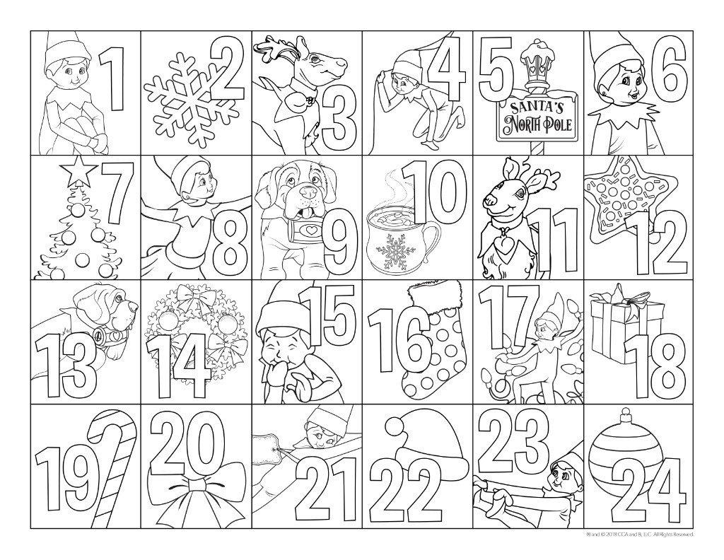 Christmas Countdown  Advent Calendar  Printable Advent Calendar  Countdown to Christmas  Christmas Calendar  Elf Calendar  Printable
