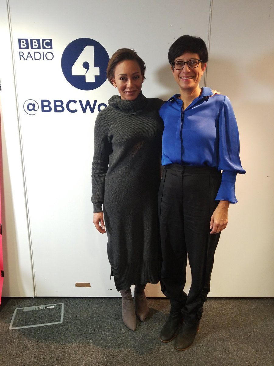 Our Chief Executive @katieghose at @BBCWomansHour with our Patron @OfficialMelB