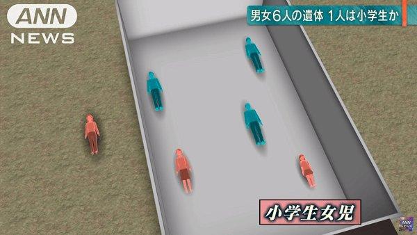 高千穂町の殺人事件の当時の現場の再現画像