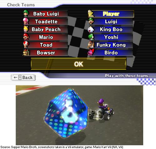 In Mario Kart Wii, resetting the Team Race menu until you
