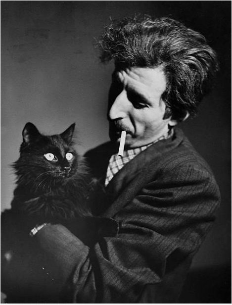 "Deny Fear on Twitter: ""Here's Gjon Mili with his cat Blackie, 1946… """