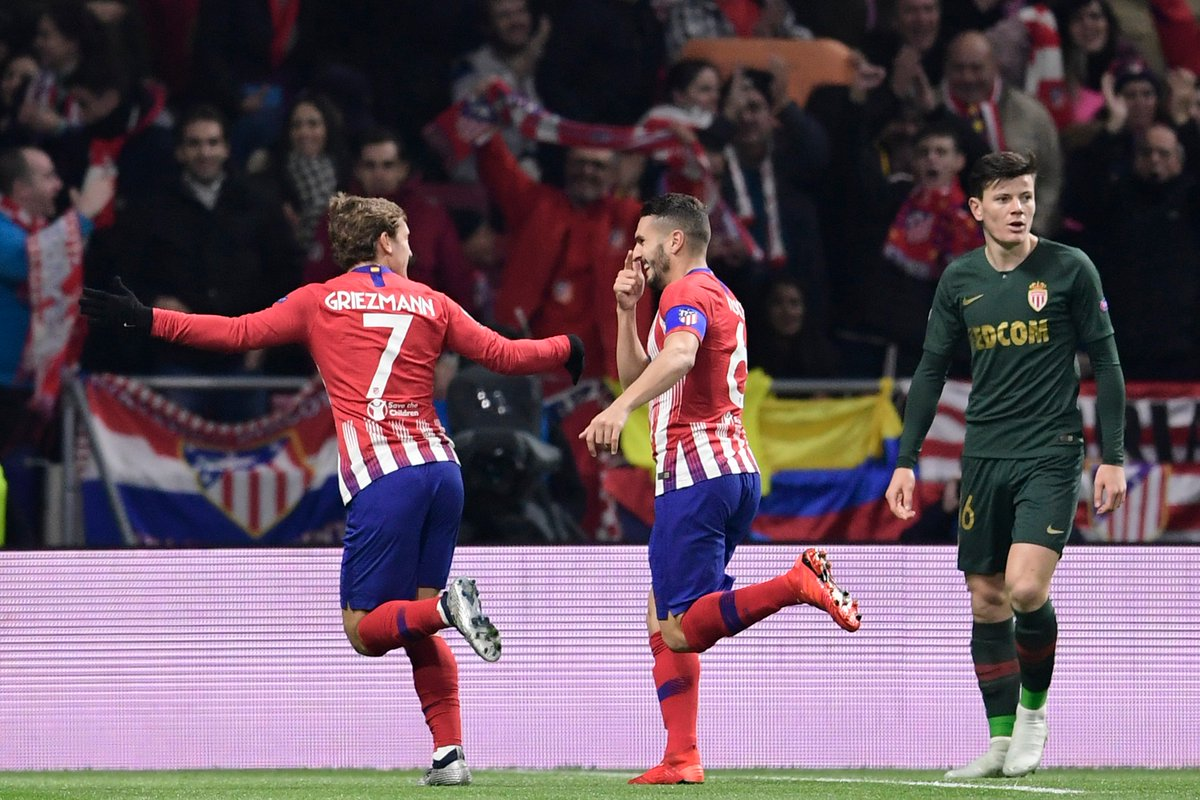f87ce8c8c 87 - Koke s goal after 87 seconds was the fastest goal ever scored by  Atlético de Madrid and ever conceded by Monaco in the Champions League.  Snapshot.