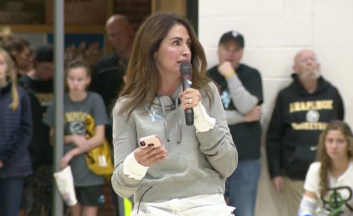 On Sept. 29, Maria Bales lost her son Nick, a senior at Arapahoe High School, to suicide. At the school's basketball game last night, she shared this powerful message with the community. Watch here: https://bit.ly/2zunpC8