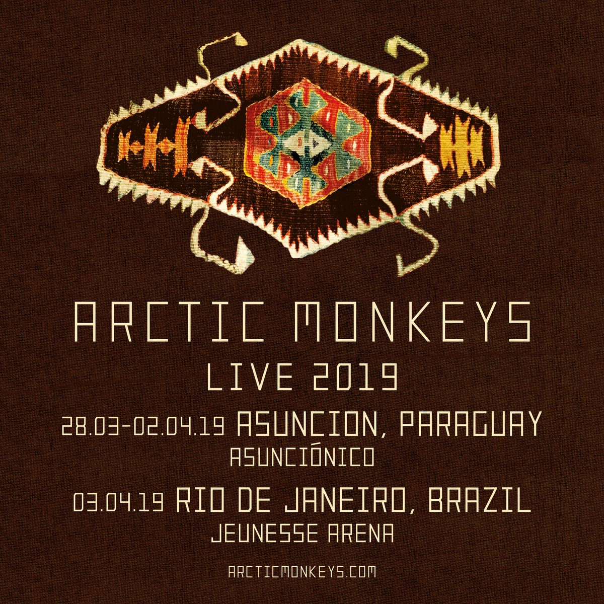 We are pleased to announce that we will be coming to Paraguay and Brazil in March/April 2019. For tickets visit https://t.co/PaUDpilxTU https://t.co/6GX0qIqBOw