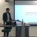 Image for the Tweet beginning: Jamie Burnett @KantarPublic outlines @WAPOR