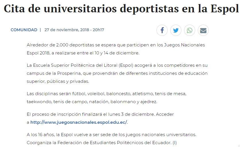 Espol On Twitter Hasta El Lunes 3 De Diciembre Puedes Inscribirte
