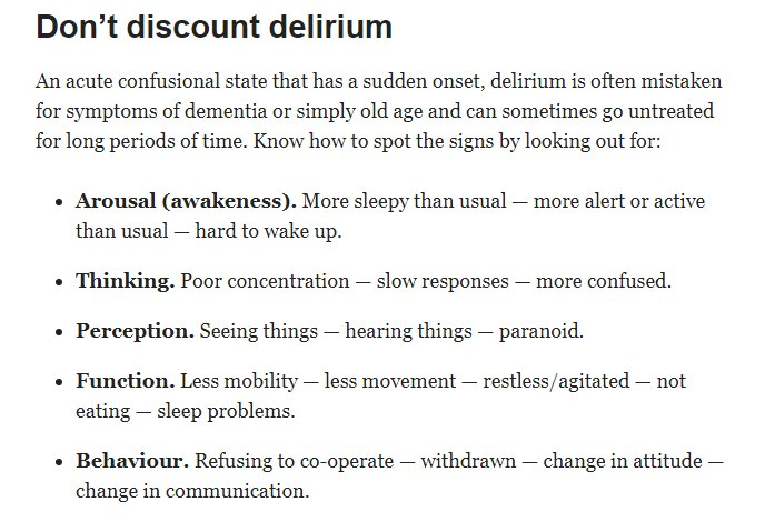 why is delirium mistaken for dementia