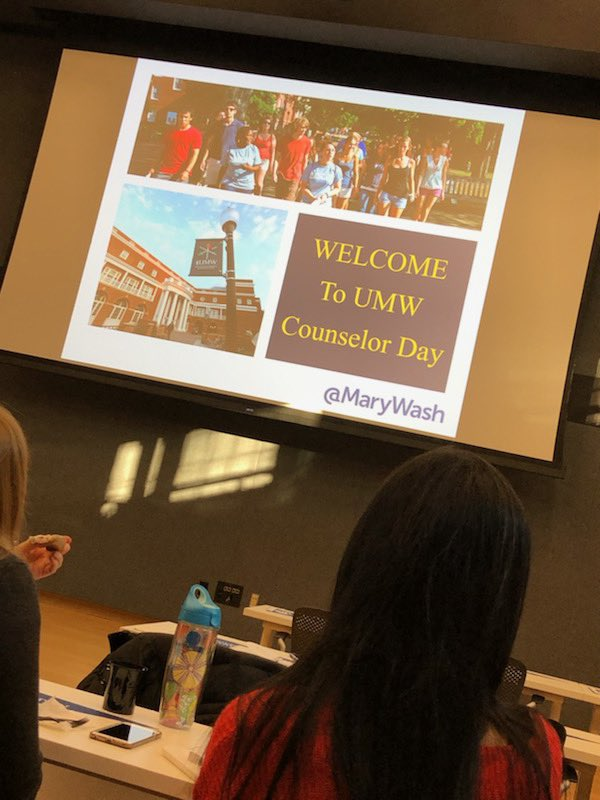 Ms. Wanzer is having a great time learning all about University of <a target='_blank' href='http://twitter.com/MaryWash'>@MaryWash</a> at their counselor day today! <a target='_blank' href='http://search.twitter.com/search?q=APSisAwesome'><a target='_blank' href='https://twitter.com/hashtag/APSisAwesome?src=hash'>#APSisAwesome</a></a> <a target='_blank' href='http://search.twitter.com/search?q=GeneralsLead'><a target='_blank' href='https://twitter.com/hashtag/GeneralsLead?src=hash'>#GeneralsLead</a></a> <a target='_blank' href='https://t.co/bti5m6Pdl1'>https://t.co/bti5m6Pdl1</a>