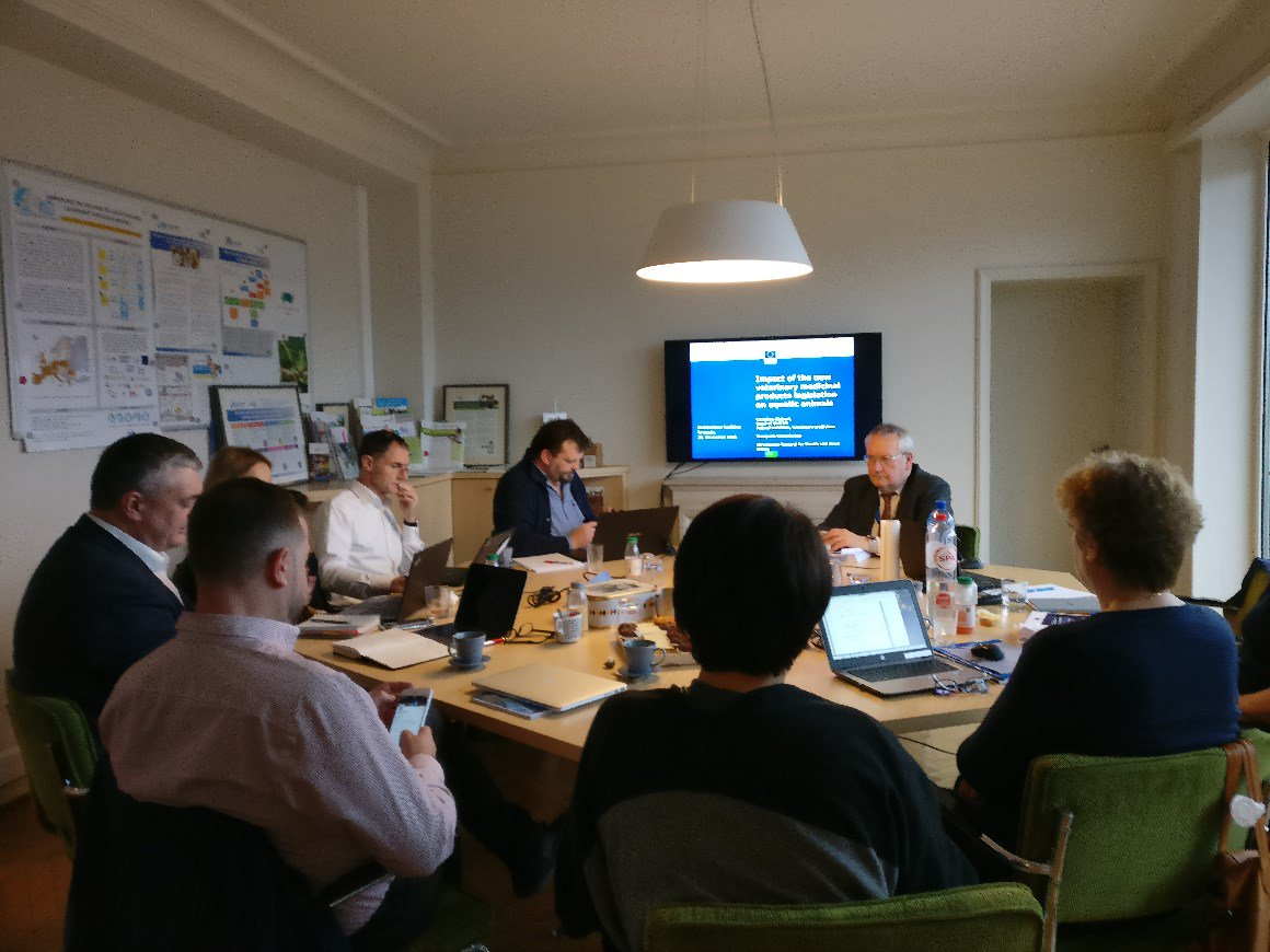 Today great last #FishMedPlus meeting: Coalition to increase authorised  medicines. Grateful to guests from #DGSante & #DGResearch.  Delighted CMDv published list EU Fish Medicines: http://www.hma.eu/584.html#c6415 🐟 #aquaculture #FishHealth @feapinfo @animalhealthEU @wavma @EMA_News