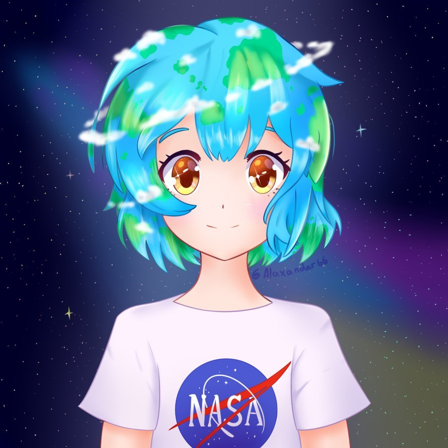 """PaJamas on Twitter: """"Wrong. Earth is a cute anime girl. """""""