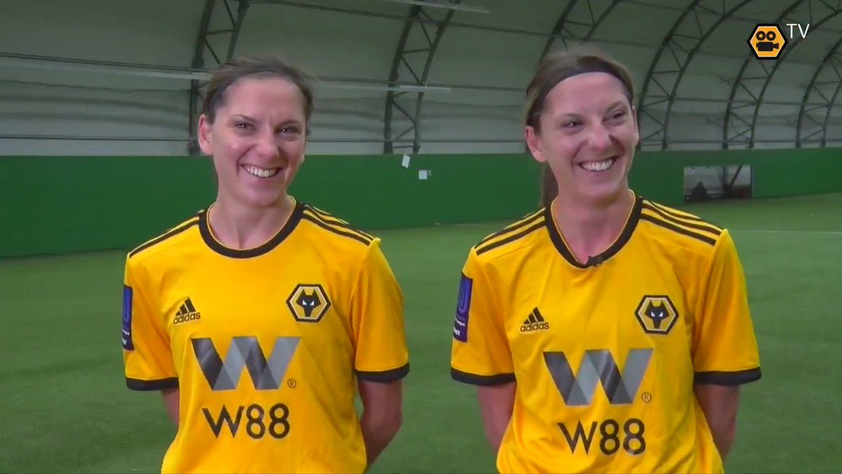 With a big season ahead for Wolves Women, let's meet some of the faces who've made big contributions in 2018/19.  First up, Player of the Season Emma Cross and her twin sister Jade!  🎥👋