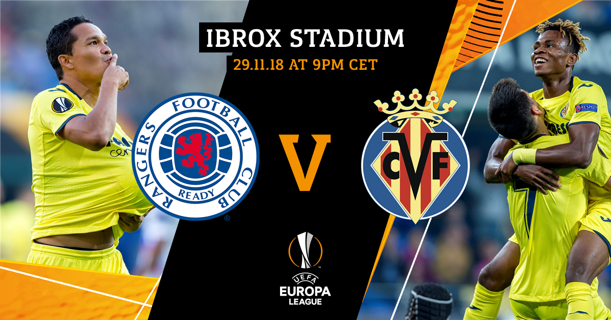 We're back in European action this evening! 🙌 Make sure you're watching the game in Glasgow, groguets! 💛  🆚 @RangersFC ⌚️ 9pm CET 🏟 Ibrox 🏆 @EuropaLeague 📅 Matchday 5 (Group Stage) 📺 @MovistarPlus (🇪🇸) 📱 #UEL