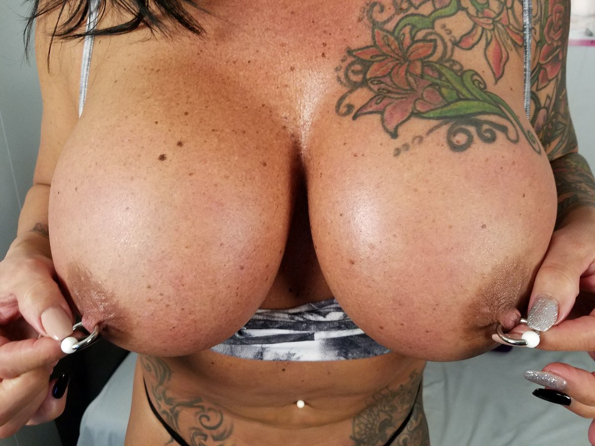 Pierced Tits And Cum Covered Tits