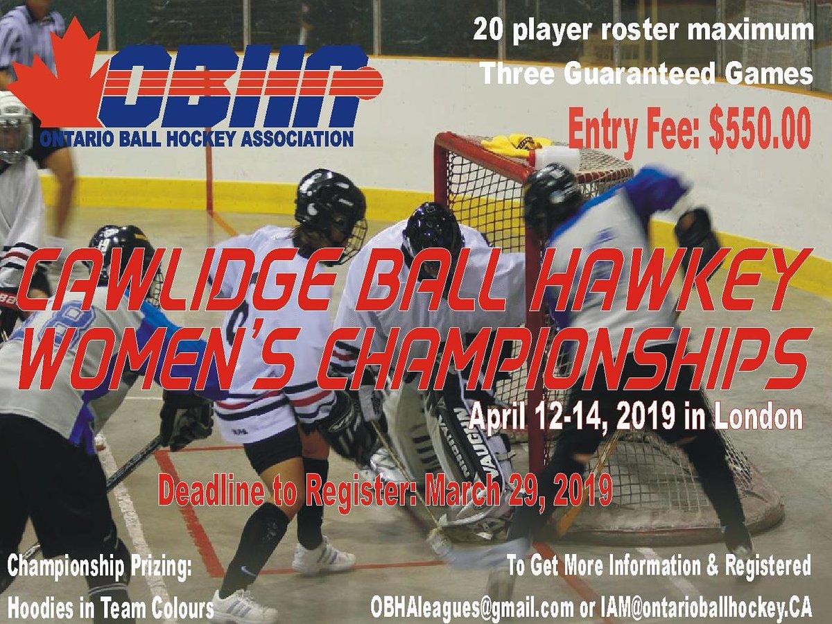 Ontario Ball Hockey On Twitter Women S Cawlidge Ball Hockey