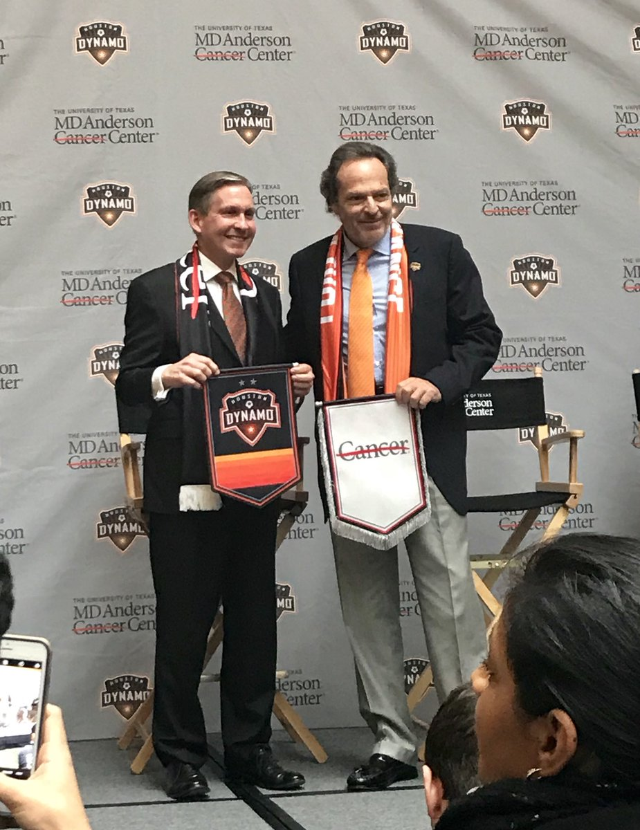 Big announcement today - @MDAndersonNews is the official cancer center and jersey partner for the @HoustonDynamo! Together, we will #endcancer. #foreverorange