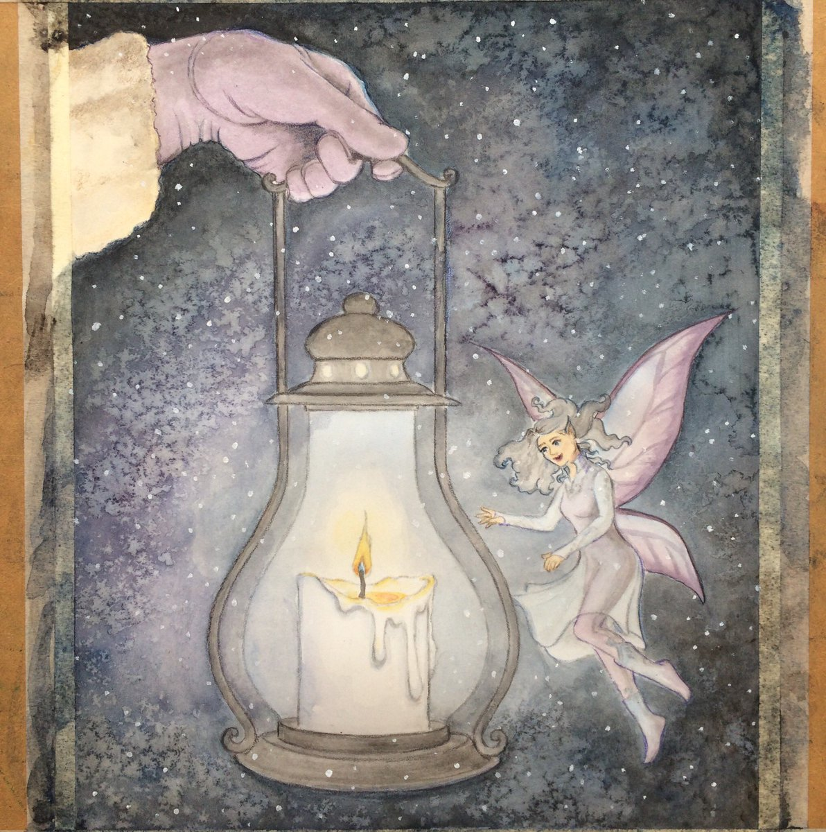 Laying down some coloured pencil today. Hoping to finish this one up by the end of tomorrow!  #colouredpencil #workinprogress #wip #coloredpencil #art #artist #fairy #night #candle #lantern #winter #watercolour #watercolor #ink #snow #snowy