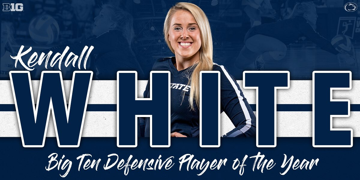 💥KaPOW💥 Kendall White is your 2018 @B1GVolleyball Defensive Player of the Year!  #WeAre https://t.co/z1mF1aYCCA