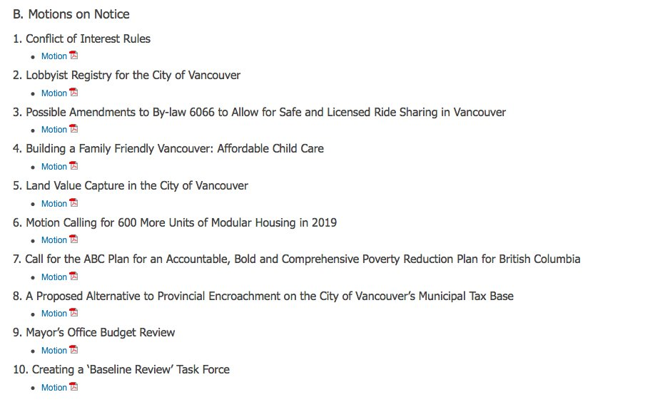 And Here S The Second Round Of Remaking Vancouver City Hall Motions Reviewing Mayor Office Budget Lobbyist Registry Land Value Tax 600 More Temporary