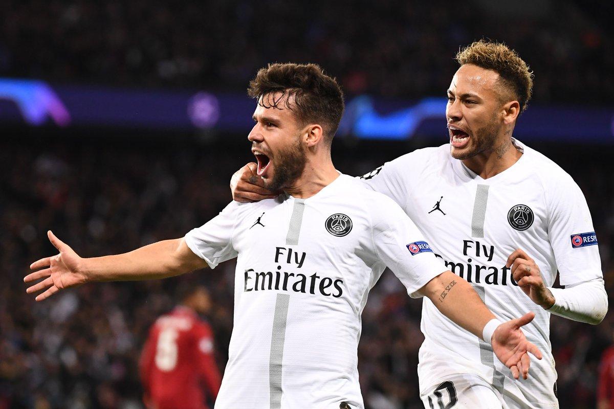 هدف باريس سان جيرمان الأول في شباك ليفربول