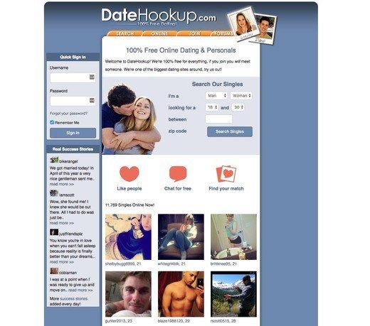 Date hookup login