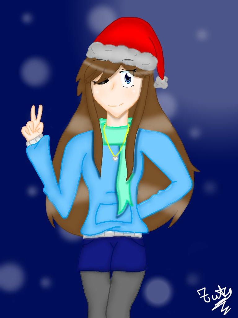 Dibujo de mi OC, especial de Navidad, #ibisPaint #dibujosdigitales #dibujosanimes