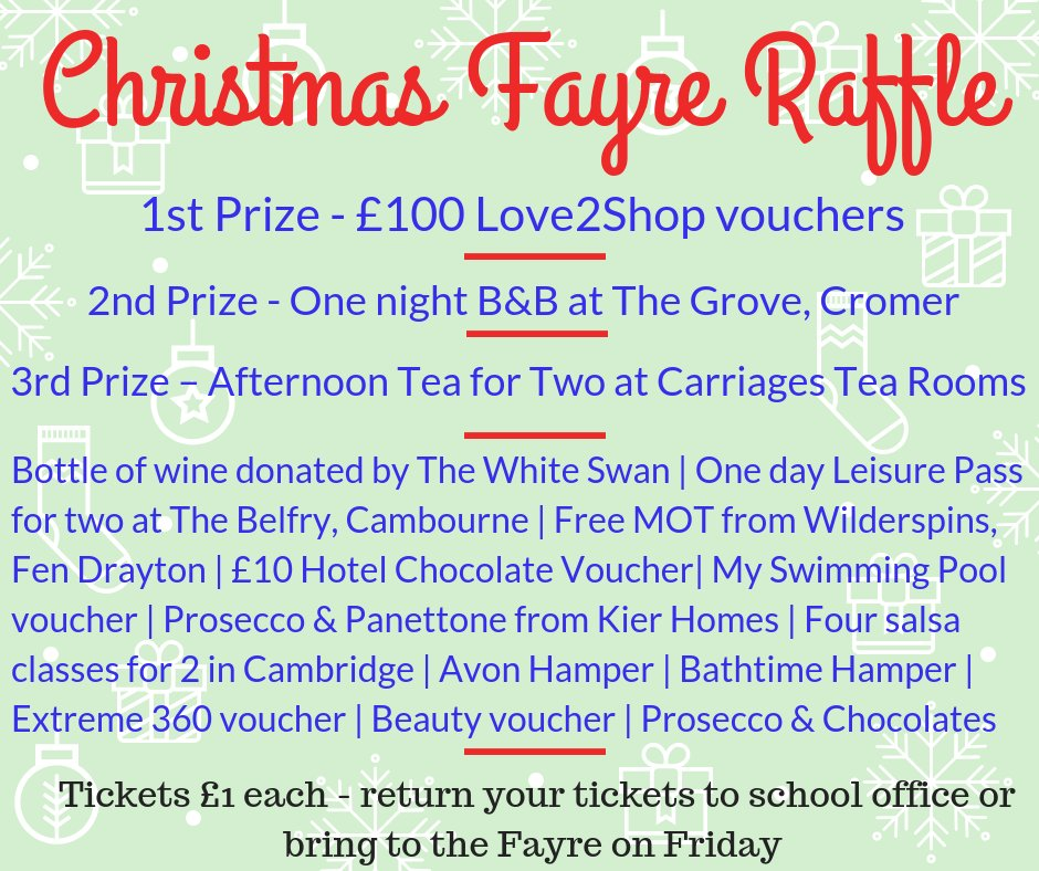 fenhil pta on twitter don t forget to sell raffle tickets to