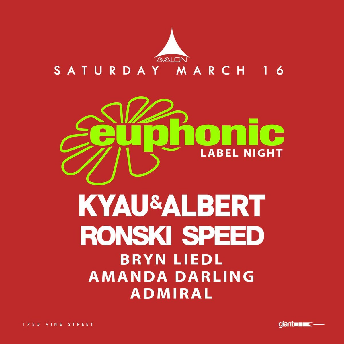 🏆 Just announced! 🏆 3/16 Is it Spring yet? Because we have one of the best imprints in trance @EuphonicRec providing the sounds of @KyauAndAlbert and @ronskispeed! Tickets: http://vor.us/a033c