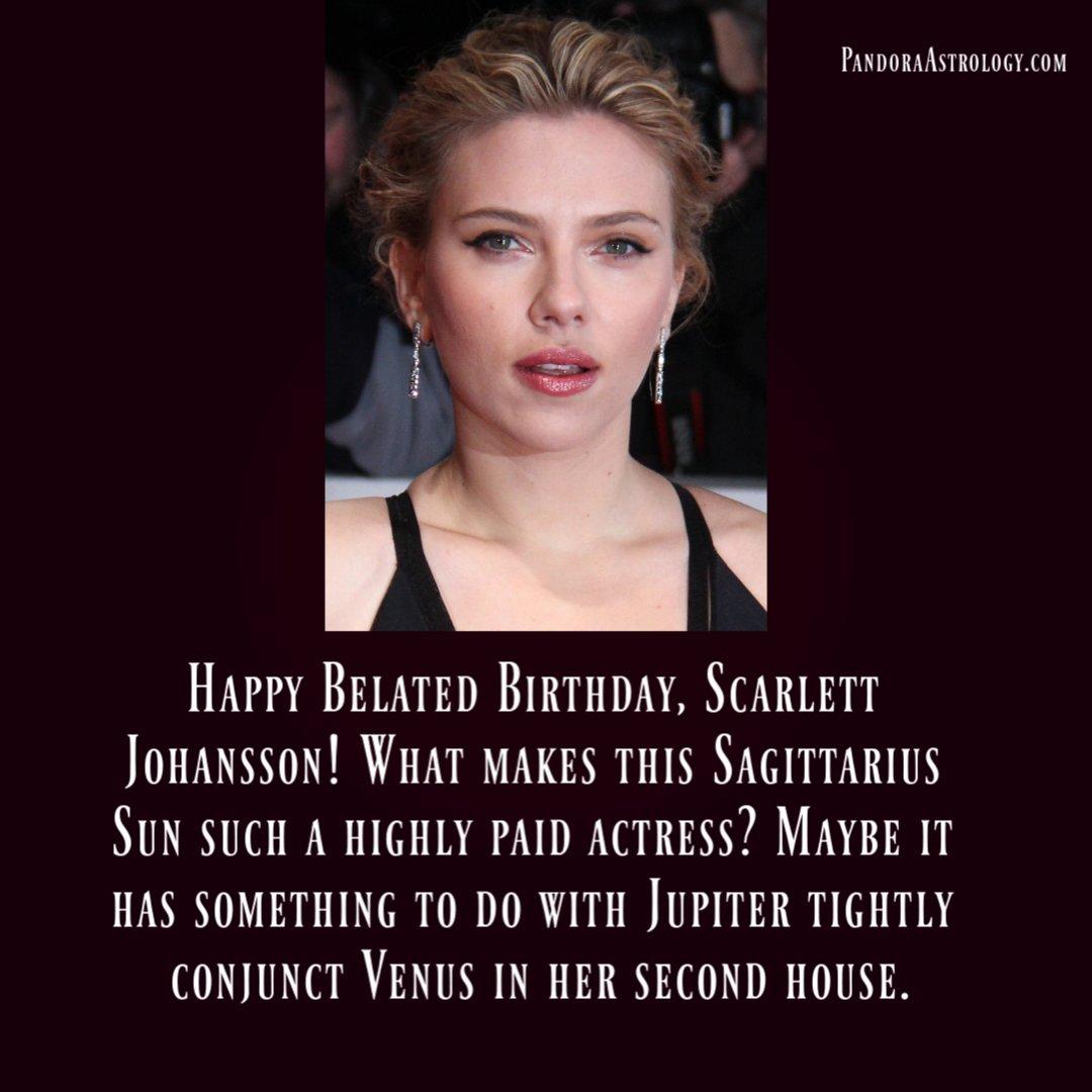 Happy Belated Birthday, Scarlett Johansson!