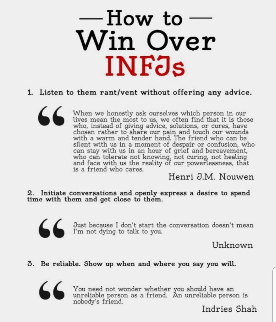 Infj Advice