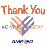 Thank you for participating in #GivingTuesday and AMPing up physical activity in school!  Keep an eye out for our upcoming Grant Cycle opening soon!  #GettingAMPED