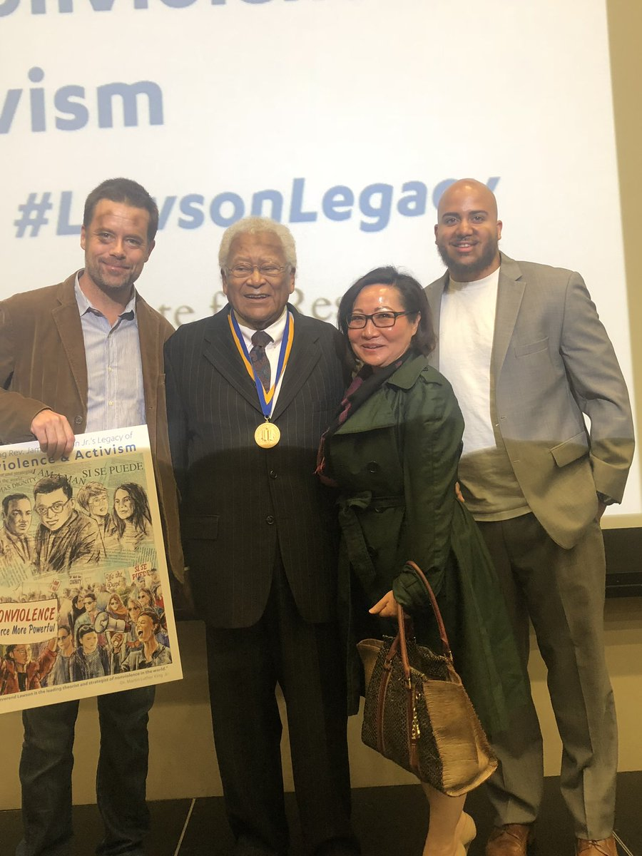 """Rev. James Lawson was honored with the UCLA medal today- our highest campus honor.  """"The forces of violence and economic deprivation and cruelty, the forces of evil, which are so well organized today in the United States, cannot prevail."""""""