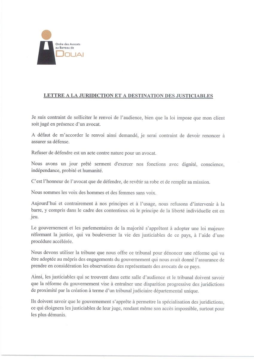 Alain Cockenpot On Twitter Lettre D Un Avocat à Sa