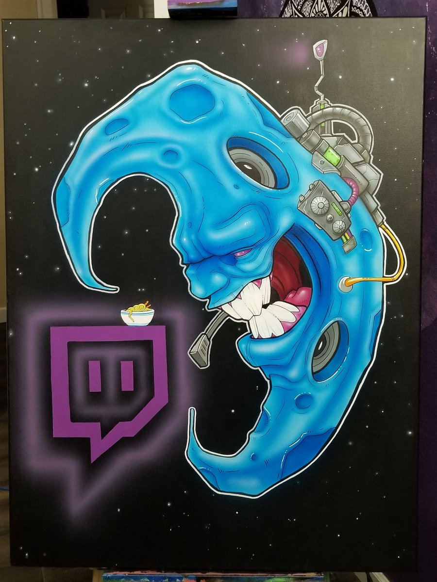 Finished 30x40 canvas  commission for the homie @LunaLyrik and the mooners.