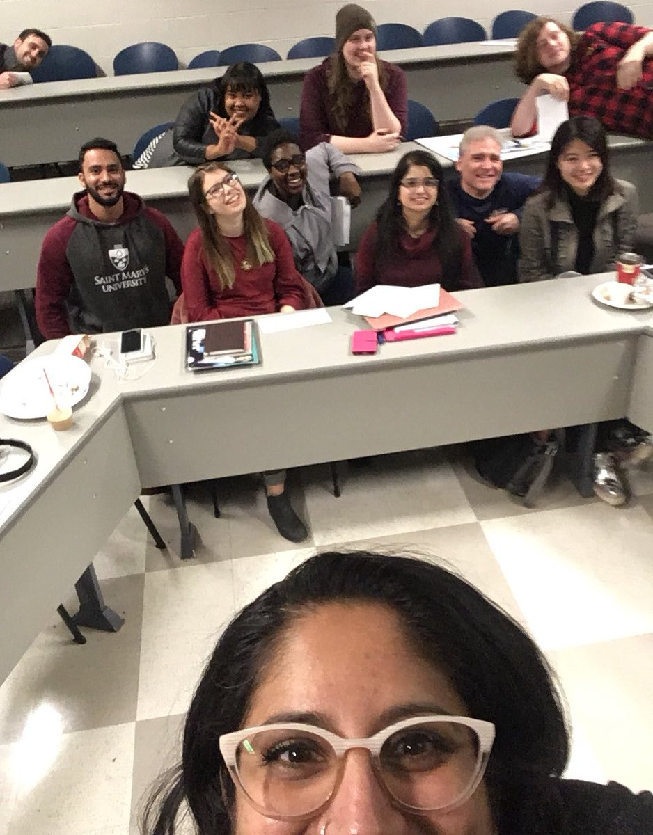 Last night of The Future - the absolute most fun I've ever had in the classroom. Grateful for this smart and creative crew of time travellers. I miss them already!  If we really did have a dept time machine, I'd go back and do it all again  👽🧟‍♂️💫🚀🛸 @smuhalifax @SMU_Rels