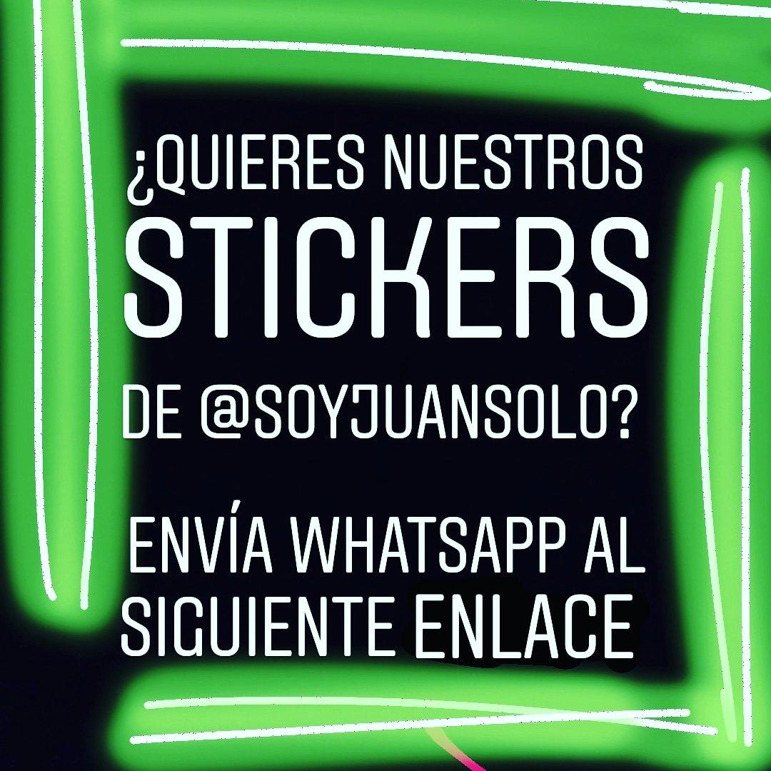 Solo envía un mensaje y listo!  Te compartiremos los stickers  de @soyjuansolo que tenemos hasta el momento. RT  https://chat.whatsapp.com/JVWGoHrziVXEYyjlIkZXwm…