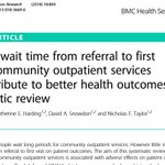 "Another graduate from ""Stepping into Research"" run by Eastern health allied health research office has published a systematic review in BMC health services research. There is some evidence to suggest that it does matter if people wait for ambulatory care https://t.co/EXd65RW7nj"
