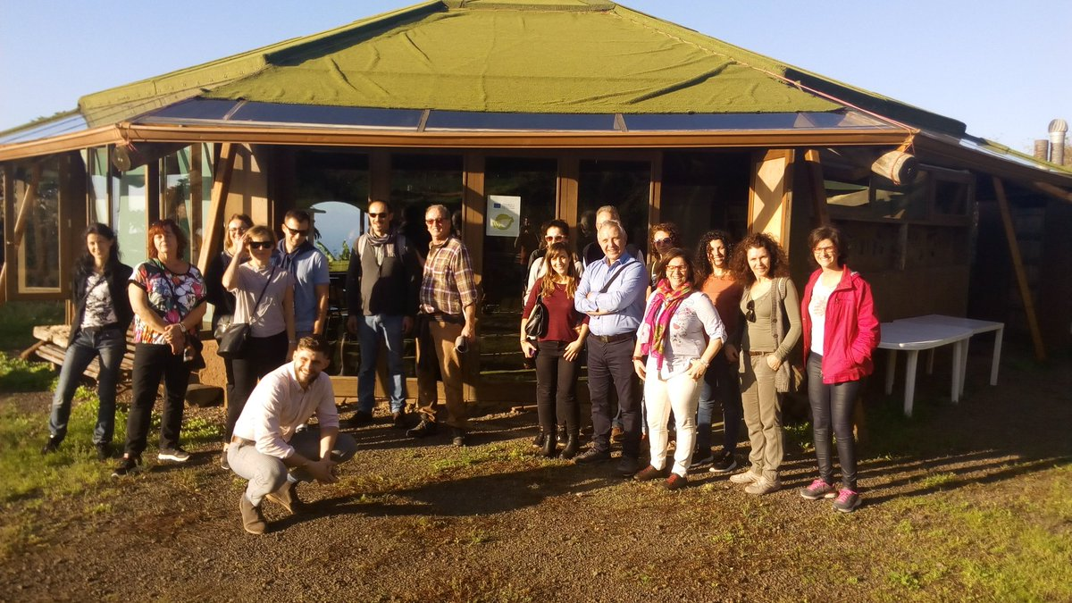 The #SharEEN_eu consortium meets in Tenerife. During the first day we had the chance to visit Finca El Mato and learn about 🌱 #permaculture and http://permind.eu project with Nani and Javier in a ☀ day. Thank you!