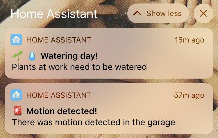 HA notifications with emoji